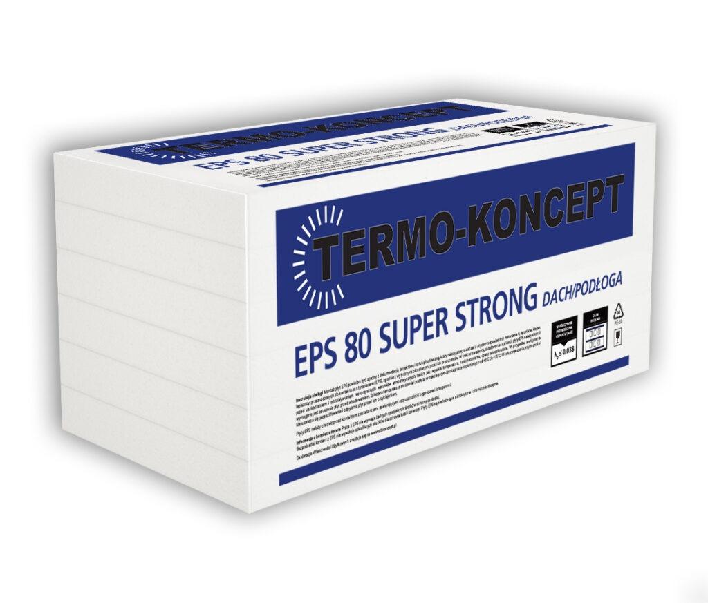 Płyty styropianowe EPS 80 SUPER STRONG DACH/PODŁOGA TERMO-KONCEPT STB KONCEPT