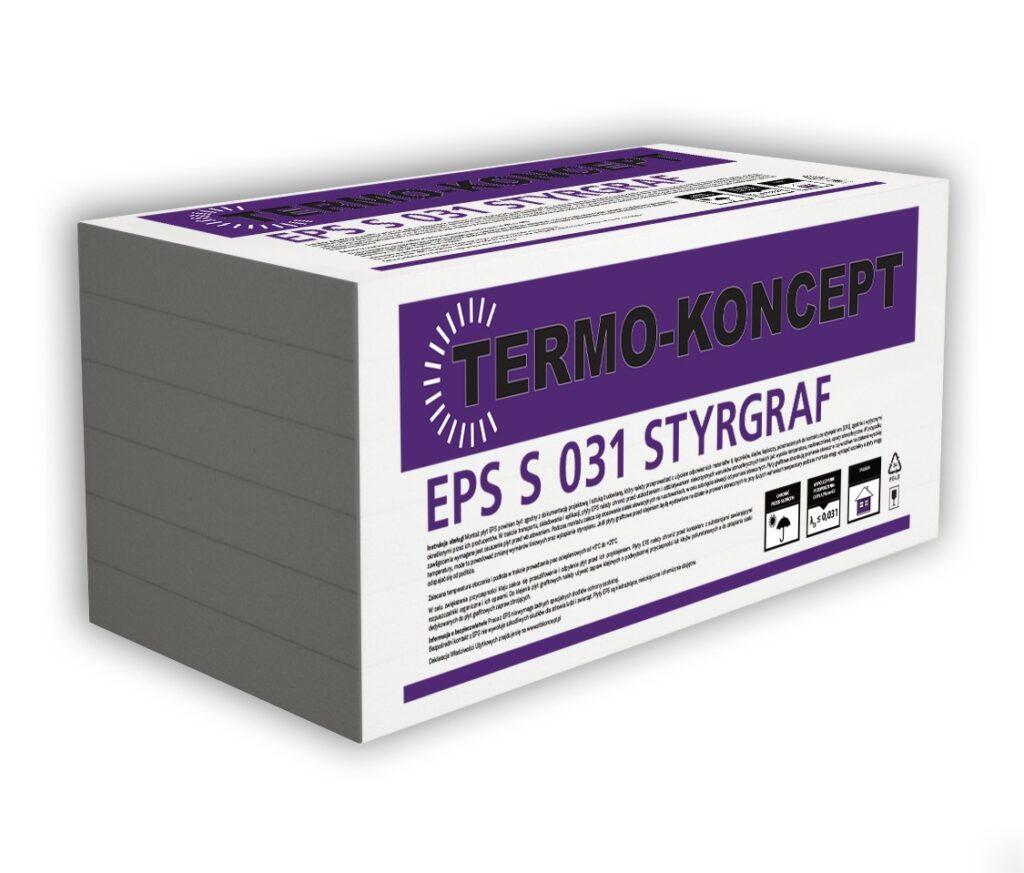 Płyty styropianowe EPS S 031 STYRGRAF FASADA TERMO-KONCEPT STB KONCEPT