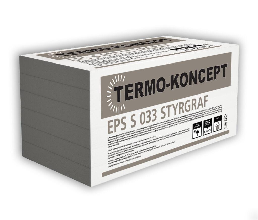 Płyty styropianowe EPS S 033 STYRGRAF FASADA TERMO-KONCEPT STB KONCEPT